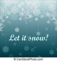 Light Christmas background with snowflakes
