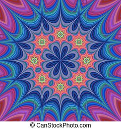 Abstract floral fractal kaleidoscope background