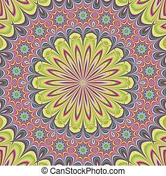 Floral mandala design background