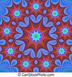 Nine branched star mandala fractal design