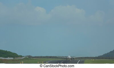 Airplanes taking off from Phuket - Airplane Boeing 767...