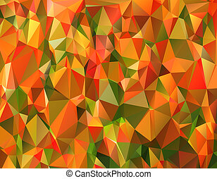 Triangle abstract  background in autumn shades