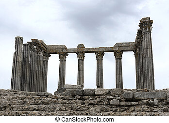 The Roman Temple of Evora also referred to as the Templo de...