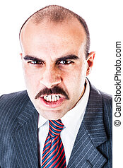 Angry businessman - portrait of a furious businessman...