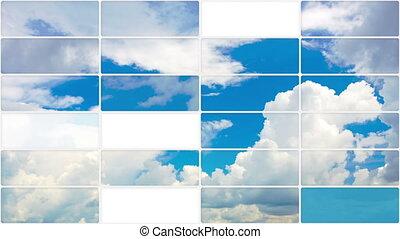 clouds in sky seamless loop back