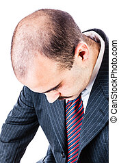 Hair loss - portrait of a businessman with hair loss...
