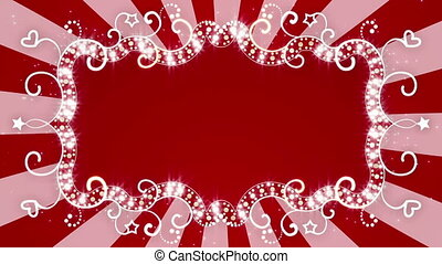 glowing red banner loopable back - glowing red banner....