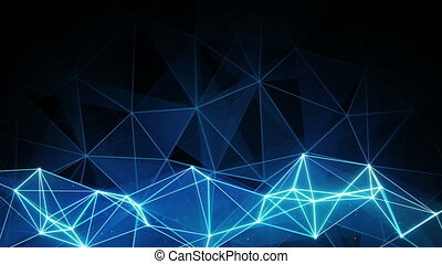 glowing blue polygon background Computer generated seamless...