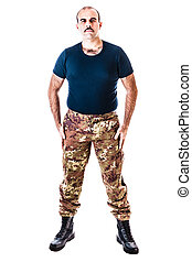 Guerrilla man - a soldier wearing camouflage clothing...