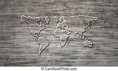 vidro, mundo, mapa