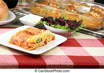 italiano, lasaña, Rollos