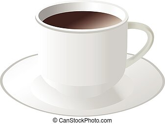 White cup of coffee or tea