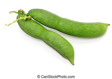 sword beans isolated on white background