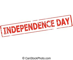 Independence day - Rubber stamp with text Independence day...