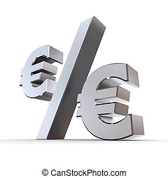 Shiny Euro Percentage Symbol