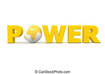 Wereld, macht, gele