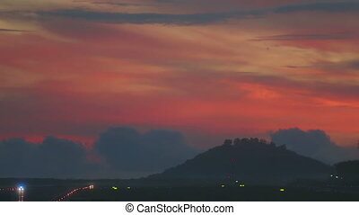 Phuket airport, early morning - Phuket International airport...
