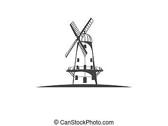 Windmill Vector Illustration