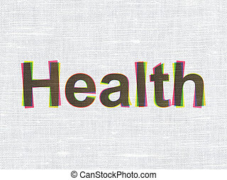 Medicine concept: Health on fabric texture background