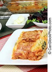 italien, lasagne, Rouleaux