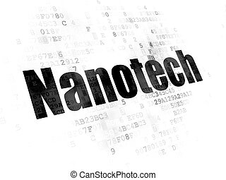 Science concept: Nanotech on Digital background - Science...