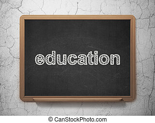 Learning concept: Education on chalkboard background