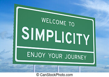 Welcome to Simplicity concept