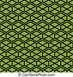 Zigzag green endless pattern