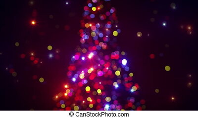 blurred christmas tree lights flash