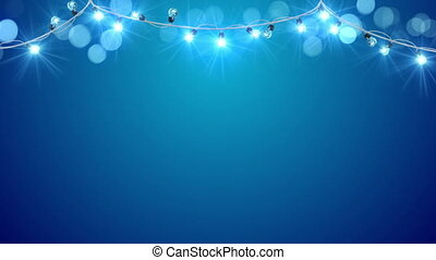 blu, luce, Natale,  Loopable, Lampadine