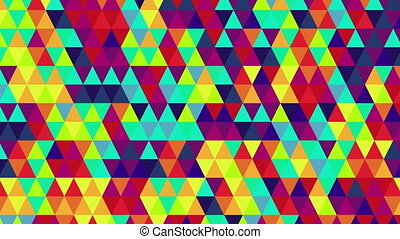 bright color triangles loop