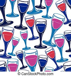 Sophisticated wine goblets continuous backdrop, stylish...