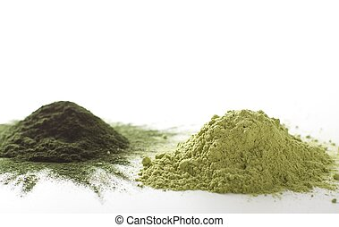 Spirulina raw powder - Spirulina and barley grass raw powder...