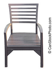 brown Wooden chair isolated over white, with clipping path