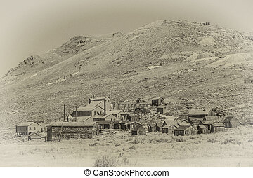Vintage Style Photo of Bodie Ghost Town - Period style photo...