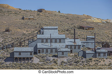 Mining Operation at Bodie Ghost Town - An abandoned old west...