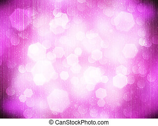Abstract bokeh on pink background.