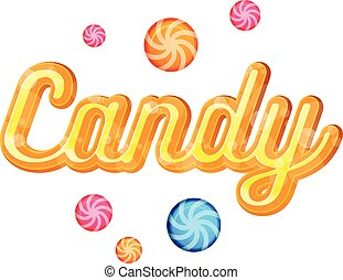 Yellow Candy Font Heading Vector for Posters