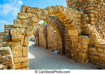 Park Caesarea on the Mediterranean Sea - National park...