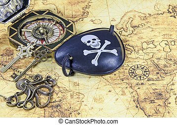 steel pirate skull eye patch