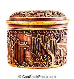 ancient chinese ornated container - an ancient chinese...