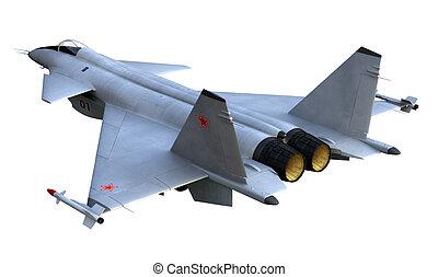 Destroyer - 3D render of russian jet fighter