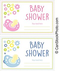 baby shower card girl and boy