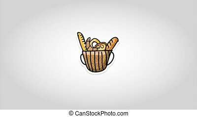 Bakery design over white background, Video Animation HD1080