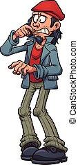 Worried man - Worried cartoon man. Vector clip art...