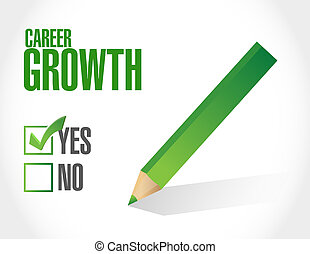 Career Growth approval sign concept illustration design...