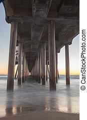 Under the Huntington Beach Pier - Under the Huntington...