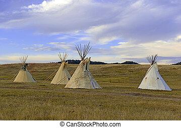 Teepee (tipi) Great Plains, USA - Teepee (tipi) as used by...