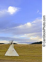 Teepee (tipi) Great Plains, USA - Teepee (tipi) as used by...