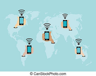 World wifi concept